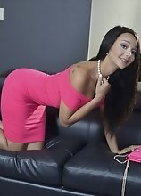 Let me Undo this Sexy Pink Dress of Mine and Make You Watch Me Jerk My Cock Until I Cum