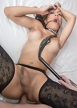 Furry Tail ButtPlug Chocker Bareback Creampie