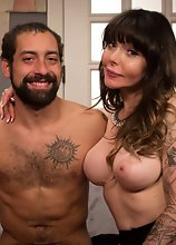 Danielle Foxx and her husband have threesome with TS Venus Lux and spit ball her juicy sticky wet cum!