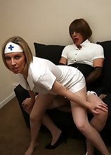 Slutty nurse comes visit Zoe for a home check up