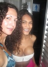 Nikki with hot Brazilian tgirls